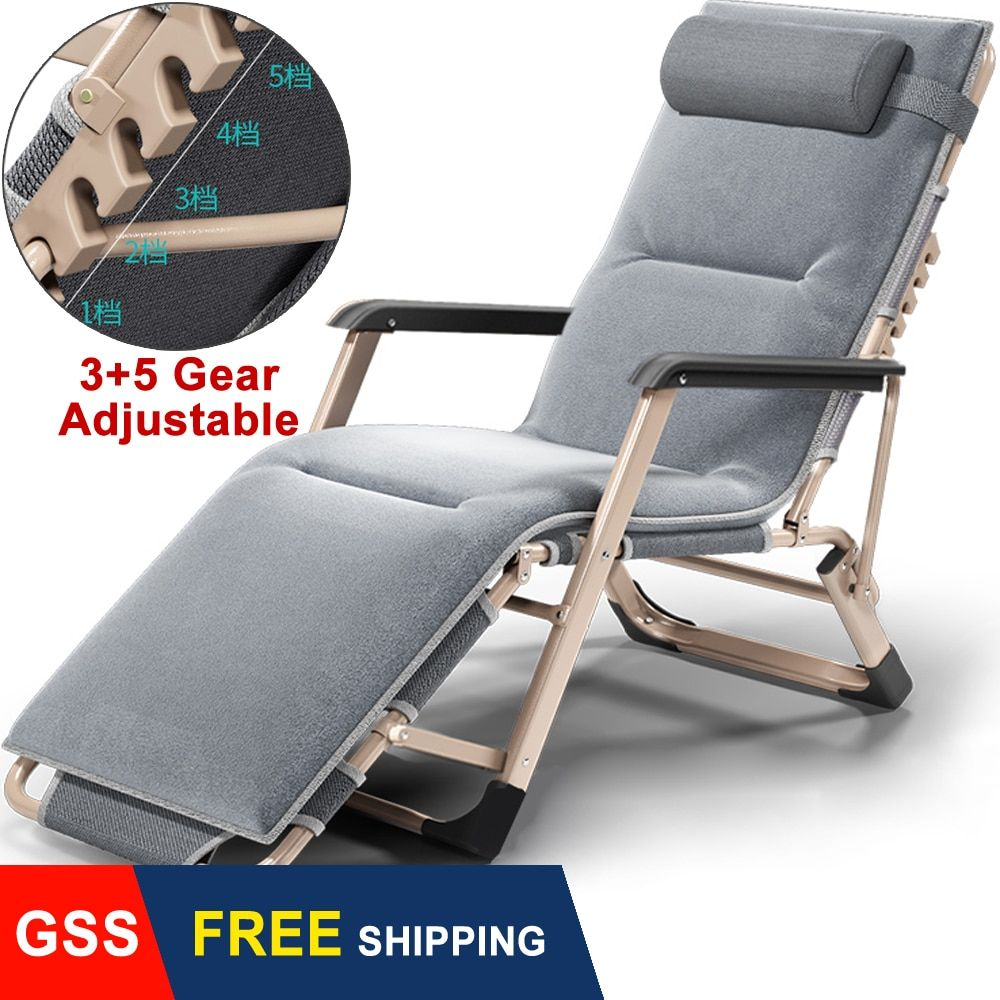 Backrest Adjustable Folding Chaise Lounge Beach Chairs Outdoor Lazy Sofa Home Ebay