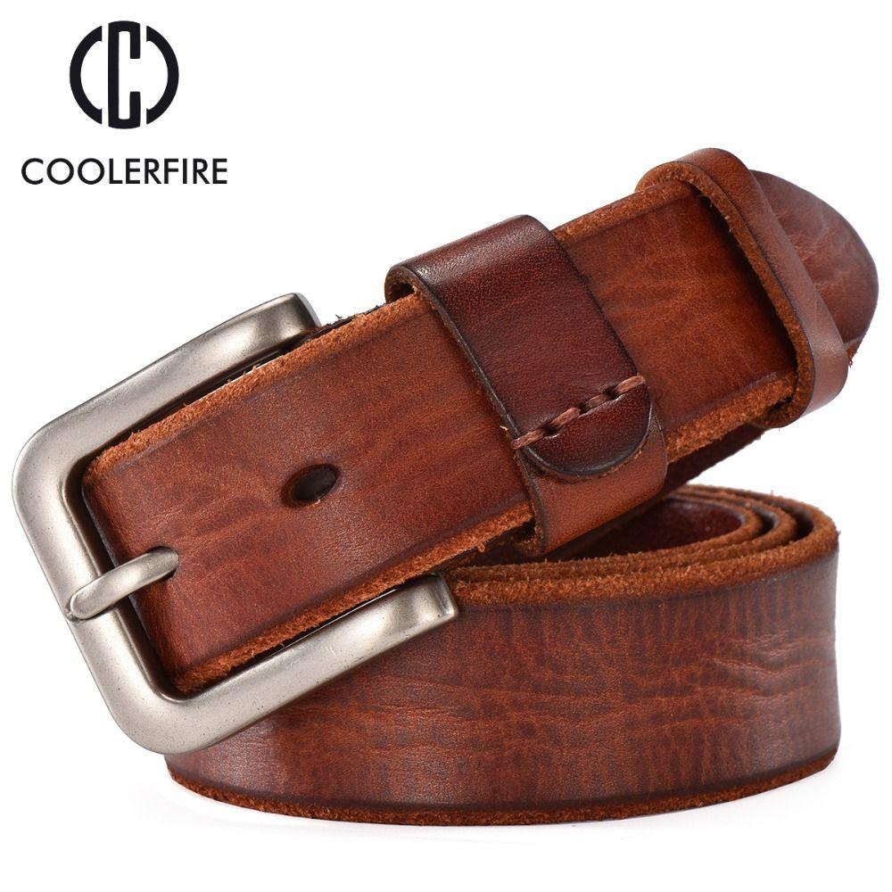 Men Cross Style Belt Made Of Full Grain Genuine Cowhide Waistband Waist Strap