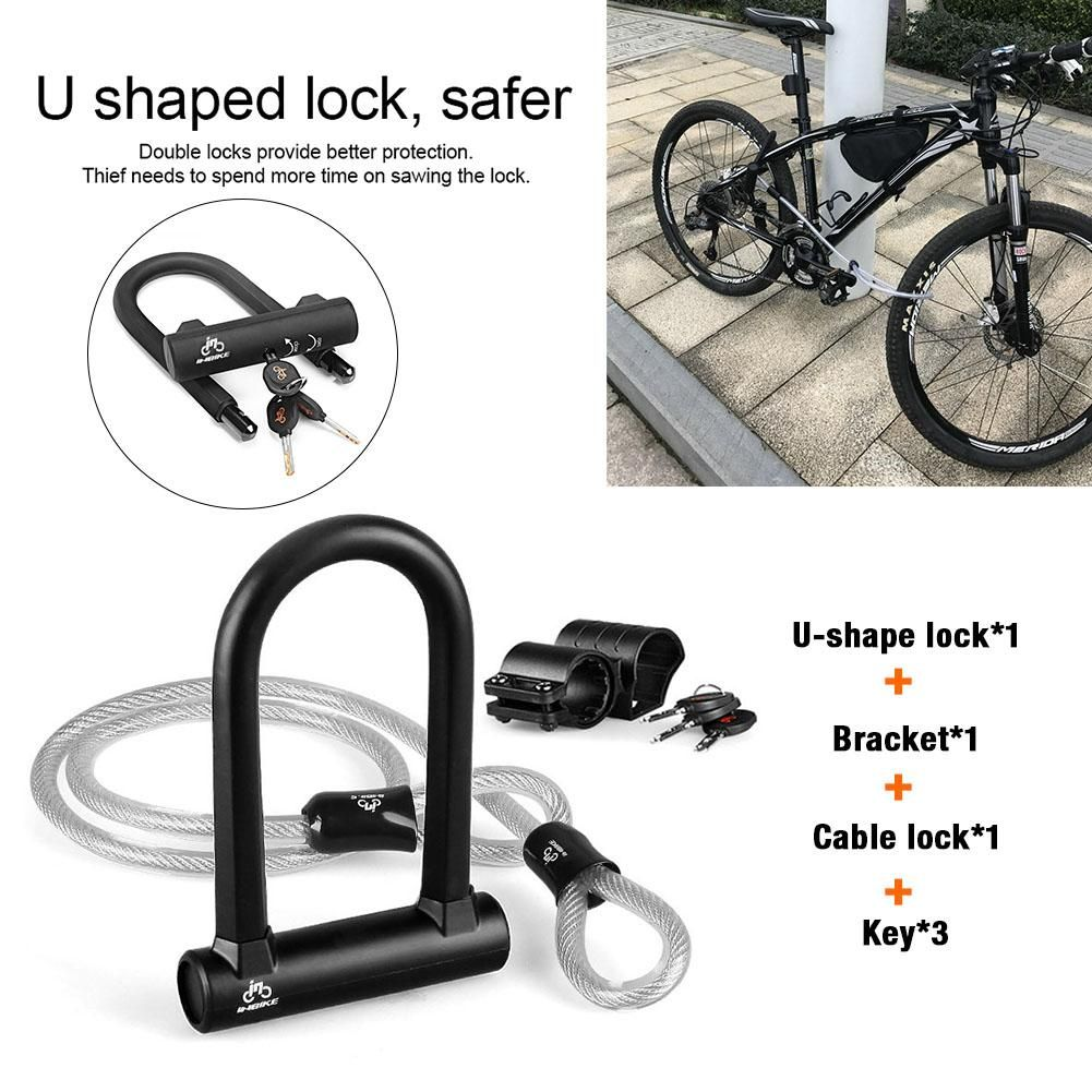 2 Bike Lock Bicycle Cable Heavy Duty Chain Anti-Theft Padlock ~ NEW