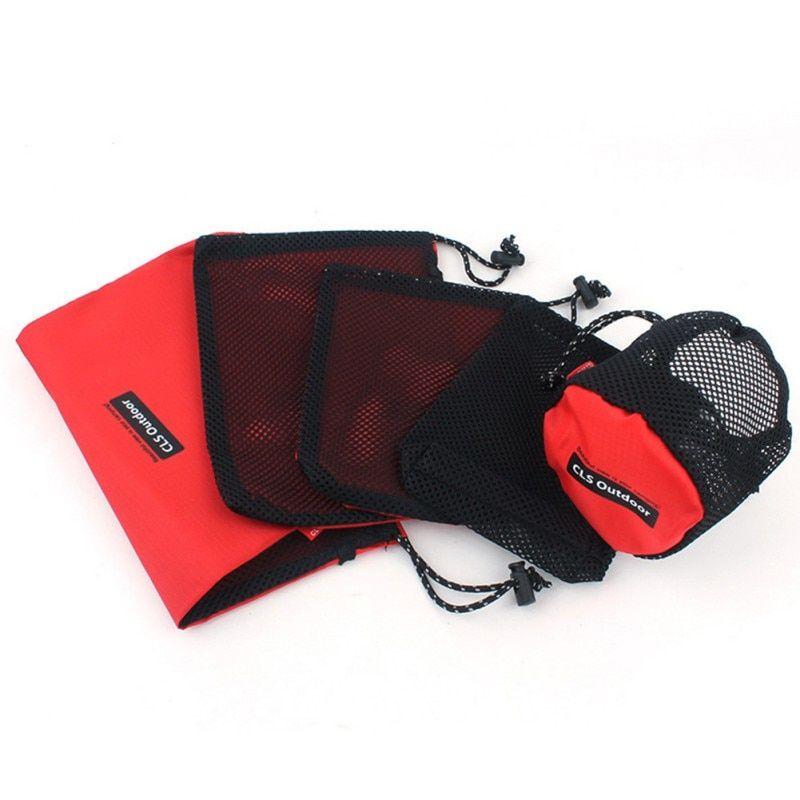Ultralight Mesh Storage Bag Camping Sports Drawstring Bags Outdoor Stuff Sack