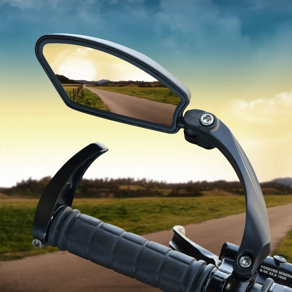 Durable Universal Bike Bicycle Handlebar Glass Rear View Cycling Rearview Mirror