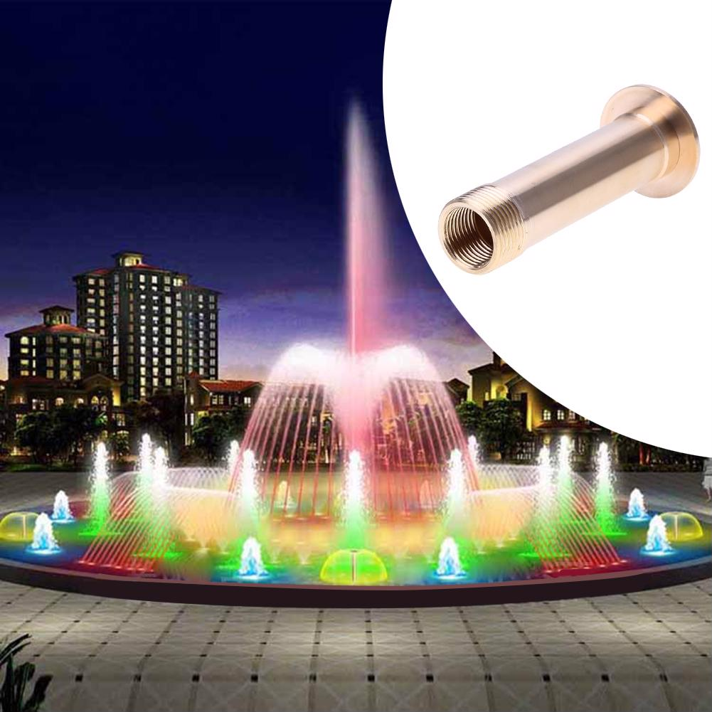2pcs Brass Nozzle Peacock Tail Jetting Fountain Pond Pool Spray Heads