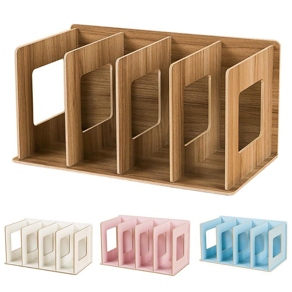 10 Grids Creative Storage Shelf Books Sundries Diy Wood Cabinet ...