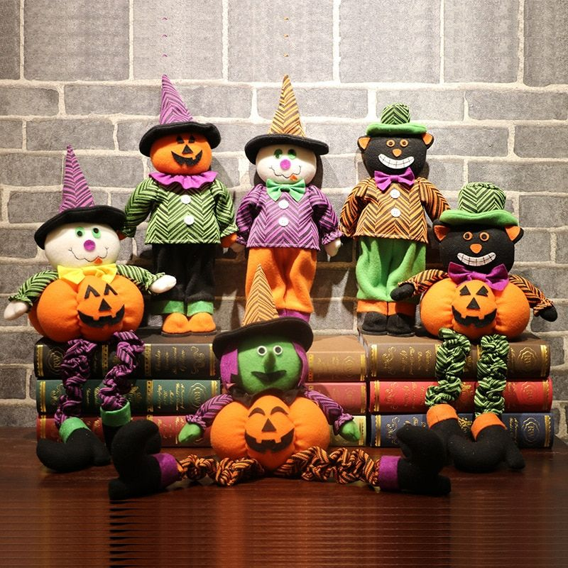 Pumpkin Ghost Witch Funny Doll Party Props Halloween Home