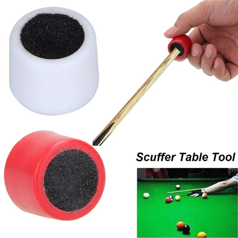 1pc Portable billiard Double Sided Cue Tip Shaper Snooker Pool Scuffer Tool  X