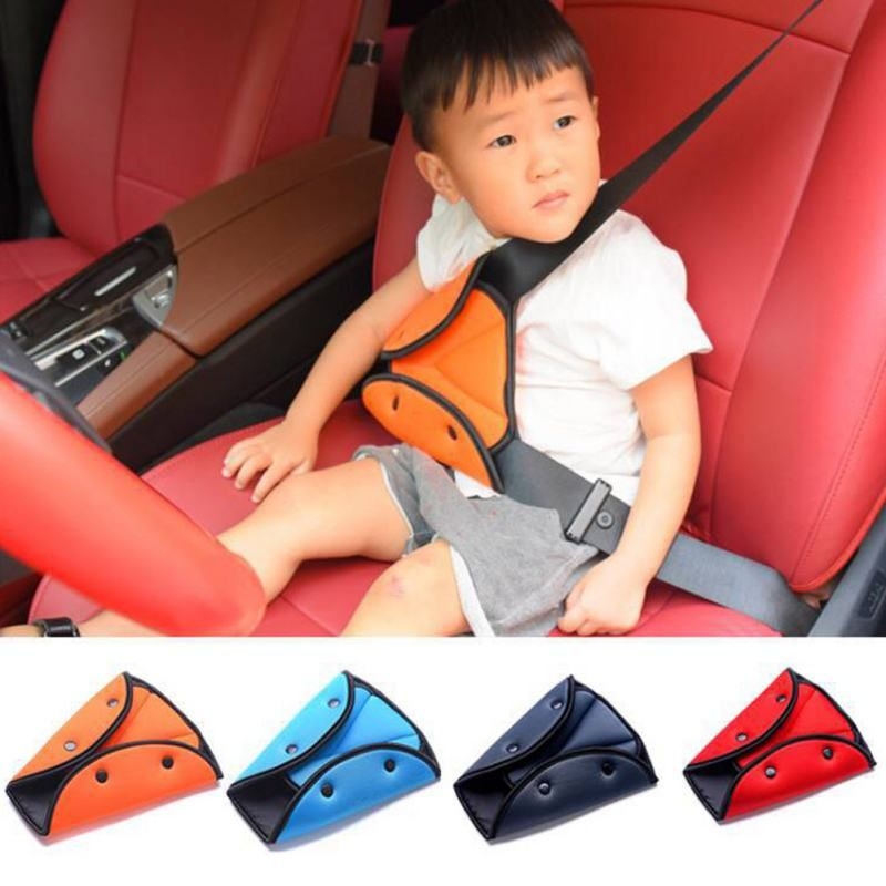 Child Kids Accessories Car Seat Belts Adjuster Safety Protector Triangle Clip