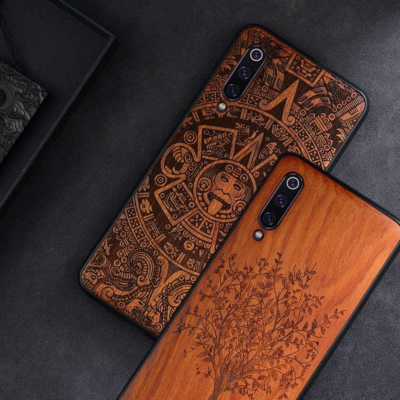 buy popular d5c9a 1689f Details about Xiaomi Mi 9 Case Slim Wood Back Cover Tpu Bumper Case On  Xiaomi Mi9 Phone Cases