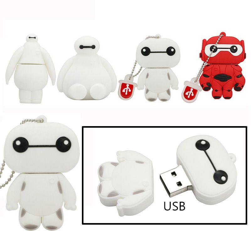 Cartoon USB Flash Drive Pen Drives Pendrive Memory Sticks for Laptop 4-64 GB