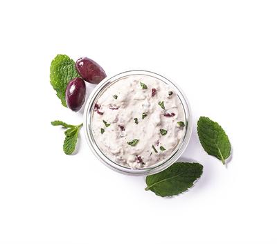 Crème de feta menthe olive