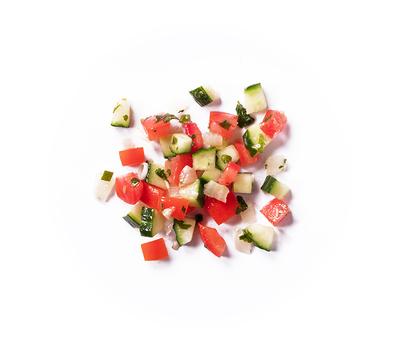 Mix tomates-concombres créole