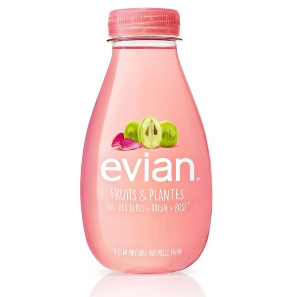 Evian Fruits & Plantes BIO Raisin Rose