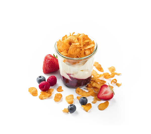YAOURT GREC CORNFLAKES FRUITS ROUGES