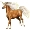 Poney licorne Alezan Crins Lavés