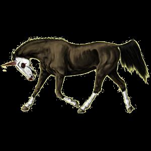 Poney licorne Shetland Gris Clair