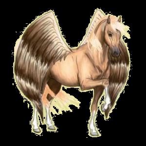 Pégase Paint Horse Pie Tobiano Palomino