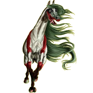 Cheval de selle Arabe Gris Truité