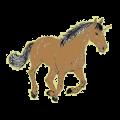 Licorne de selle Mustang Bai Cerise