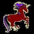 Poney licorne Fjord Brunblakk
