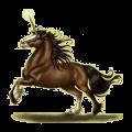 Licorne de selle Bai Cerise