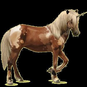 Licorne de selle Brumby Alezan