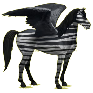Pégase de selle Mustang Spotted Cerise