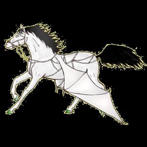 Pégase de selle Quarter Horse Cremello