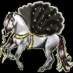 Pégase de selle Quarter Horse Gris Pommelé