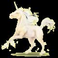 Poney licorne Connemara Gris Clair