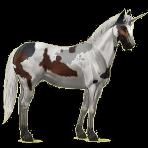 Licorne de selle Quarter Horse Alezan