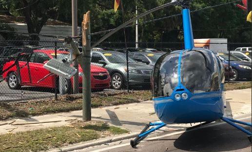 Dramma in strada: elicottero atterra, trancia camion di passaggio e uccide passeggero