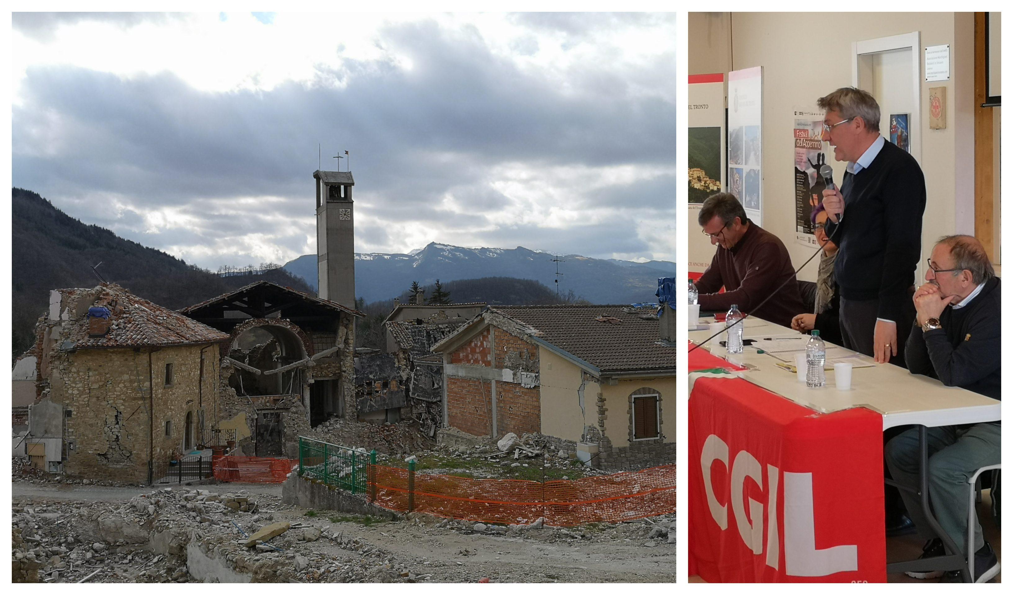 """Terremoto Centro Italia, Landini (CGIL): """"Tutto fermo, pronti a protestare accanto ai terremotati"""""""