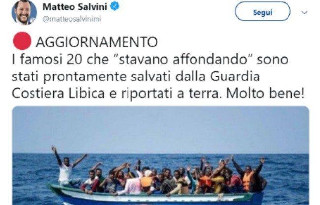 """Migranti, foto postata da Salvini è del 2018. Saviano: """"Bugie dal Ministro della Malavita"""""""