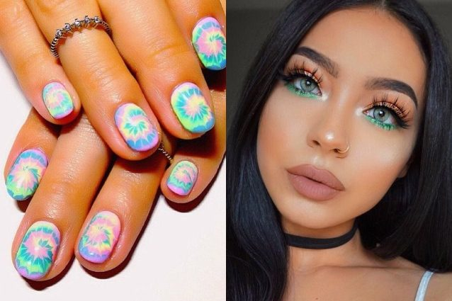 Unghie tie dye e make up boho chic: le tendenze beauty della primavera a prova di Coachella