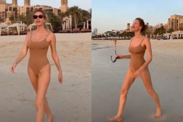 Alessia Marcuzzi dopo l'Isola si rilassa al mare: con il costume sgambato esalta la silhouette