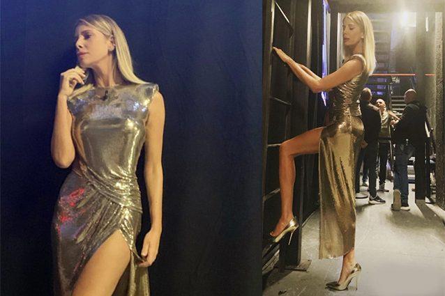 Isola dei famosi 2019, la finale: Alessia Marcuzzi è splendente e sexy con l'abito d'oro