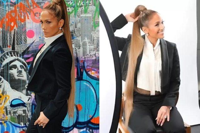 Jennifer Lopez cambia look e passa alla maxi coda di cavallo