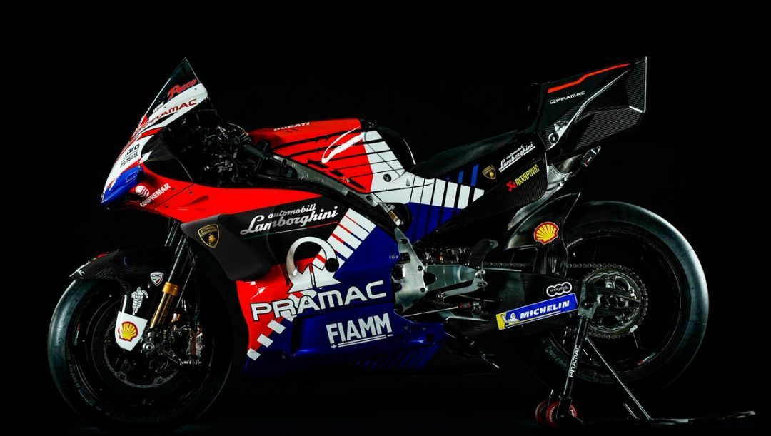 MotoGP, ad Austin Lamborghini sulle carene delle Ducati Pramac di Bagnaia e Miller
