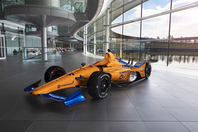 McLaren, svelata la livrea della vettura con cui Alonso correrà la 500 Miglia di Indianapolis