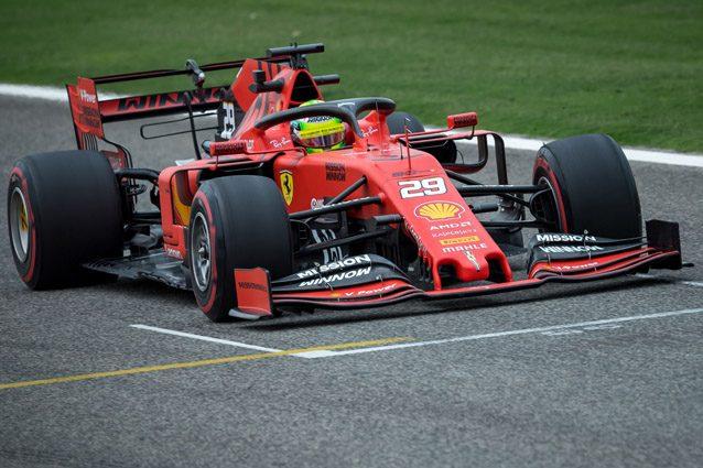 F1 Test Bahrain 2019, Day-1: prima per Mick Schumacher in Ferrari, Grosjean guida il gruppo