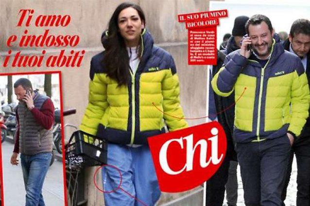 Francesca Verdini lascia casa di Matteo Salvini, addosso i suoi vestiti e i pantaloni della Polizia