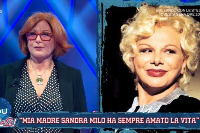 """Mentre Sandra Milo parla di suicidio in tv, la figlia nega sulla rete concorrente: """"Solo sconforto"""""""