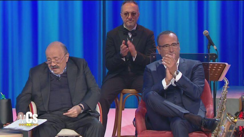 """Carlo Conti: """"Non c'è giorno in cui non ho pensato a Fabrizio Frizzi, sua figlia mi chiama Babbo"""""""
