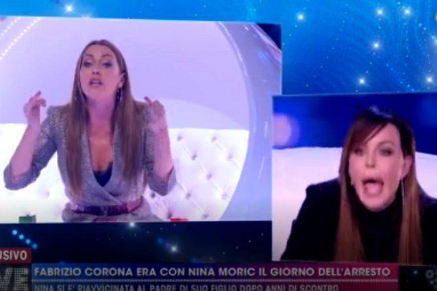 """Nina Moric asfalta Karina Cascella: """"Chi sei per farmi la morale? Hai fatto solo Uomini e Donne"""""""