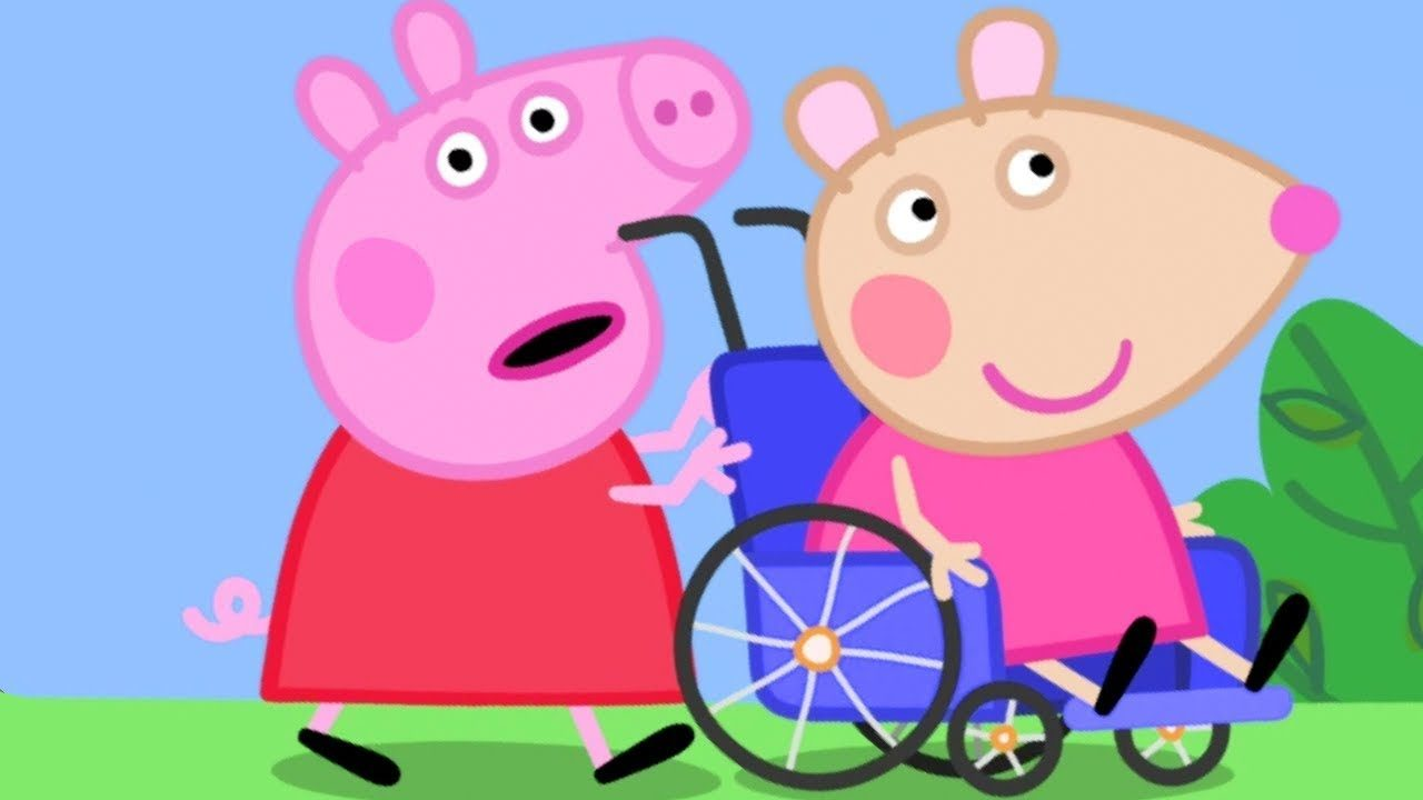 Peppa Pig torna con la novità di Mandy Topolina, l'amica in sedie a rotelle