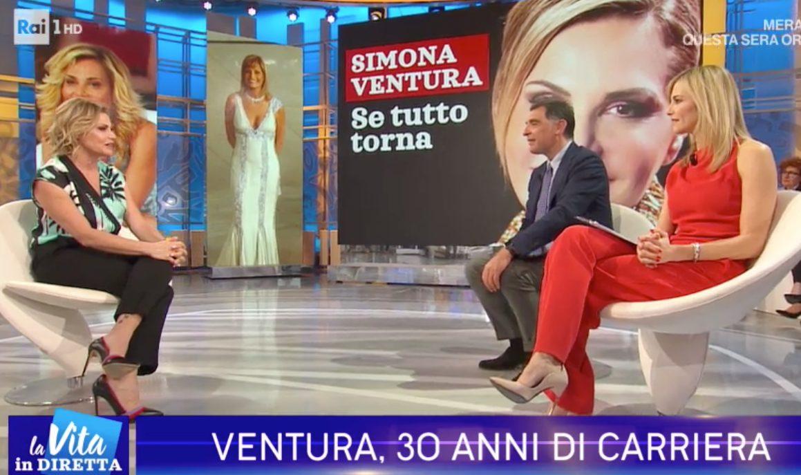 """Simona Ventura a Francesca Fialdini e Tiberio Timperi: """"Ricominciate a litigare, mi divertiva"""""""