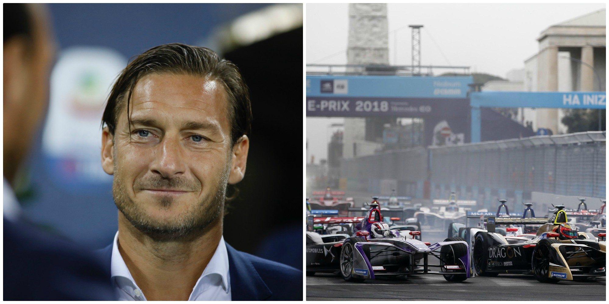 Formula E, Totti si rimette gli scarpini per beneficenza: la sfida con la Nazionale Piloti