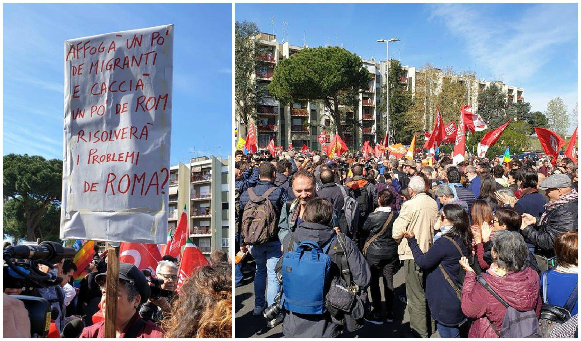 Torre Maura, in 500 manifestano con l'Anpi solo in 50 con CasaPound