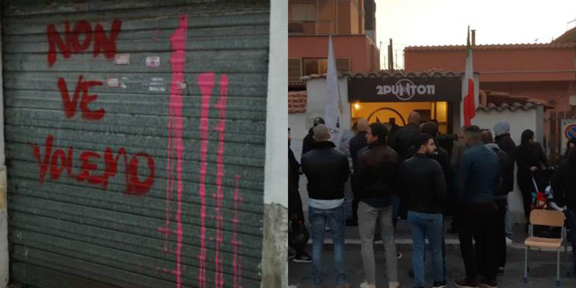Tanica piena di escrementi e un petardo esploso all'associazione '2punto11' di Fiumicino