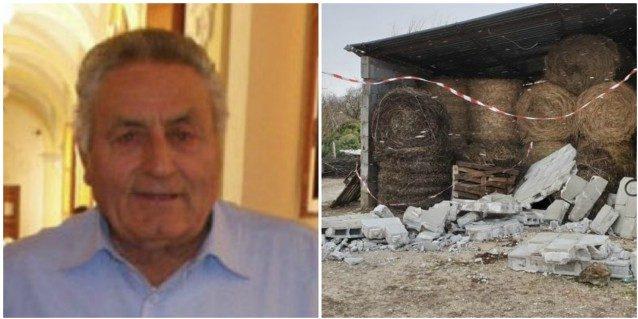 Alvito, morto anche Vincenzo Diana dopo il crollo del muro caduto per il vento