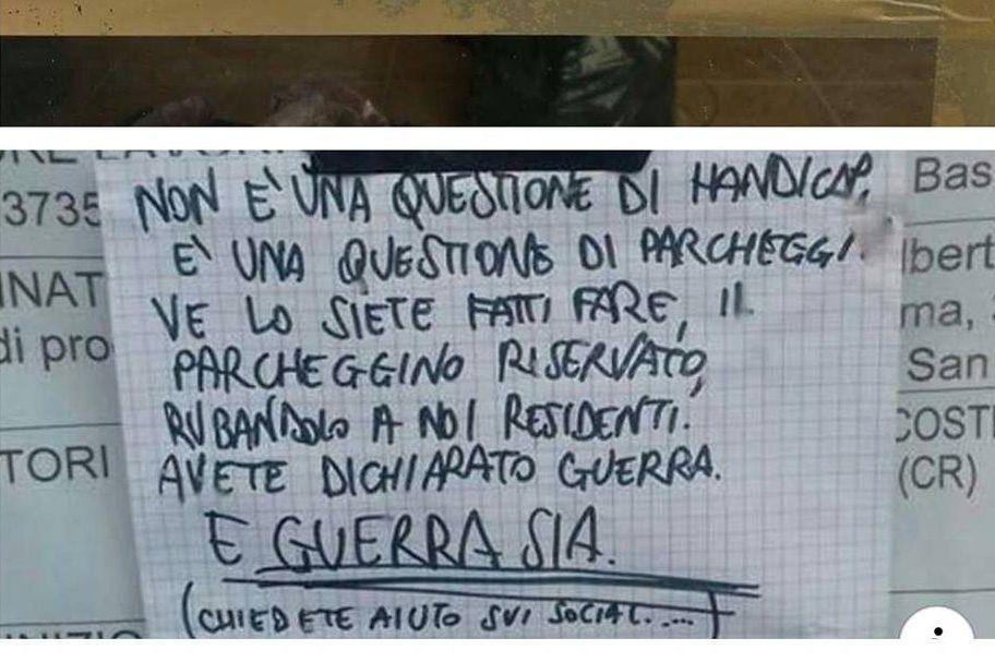 """A Cremona c'è chi fa la guerra ai disabili perché """"rubano"""" i parcheggi ai residenti"""